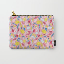leaves on pink Carry-All Pouch