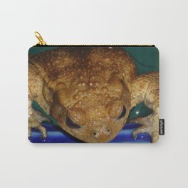 Bufo Bufo Clinging To The Edge Of A Swimming Pool Carry-All Pouch