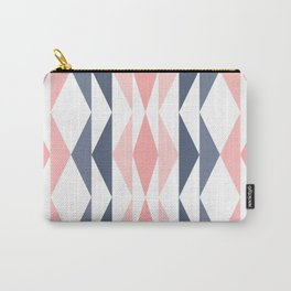 Triangle Pattern in Blush and Slate Carry-All Pouch
