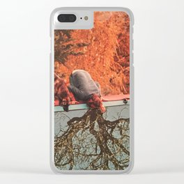 Monday morning purge Clear iPhone Case