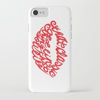 lip iPhone & iPod Cases featuring Red lip by saralucasi