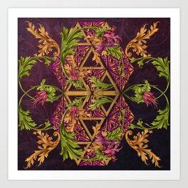 Celtic Triskels and Baroque Ornamentals Art Print