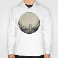 marc johns Hoodies featuring St. Johns Bridge by Leah Flores
