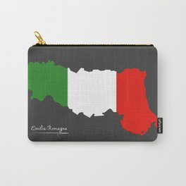 Emilia-Romagna map with Italian national flag illustration Carry-All Pouch