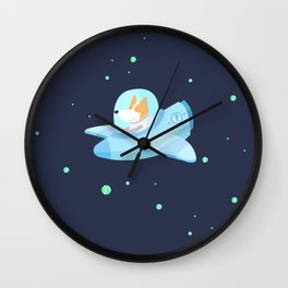 Space corgi Wall Clock