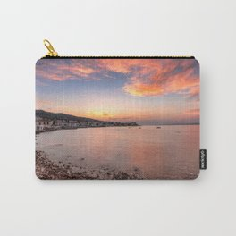 Sunset behind the town of Spetses island, Greece Carry-All Pouch