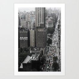 Concrete Trails Art Print
