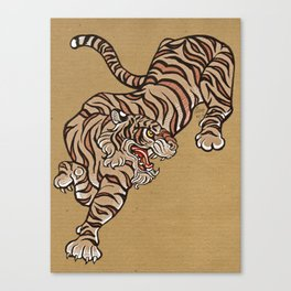 Tiger in Asian Style Canvas Print