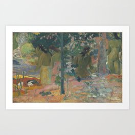 Paul Gauguin - The Bathers Art Print