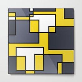 Mondrian Style Metal Print