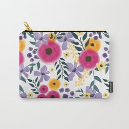 Spring Floral Bouquet Carry-All Pouch