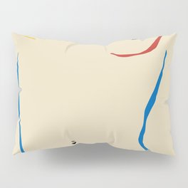 Line in nude Pillow Sham