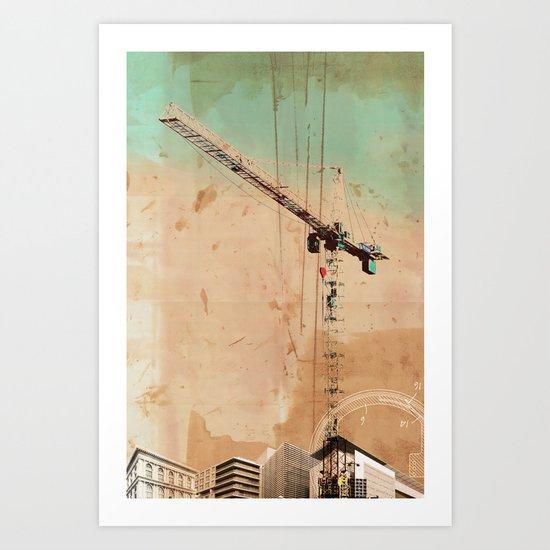 The Crane Art Print