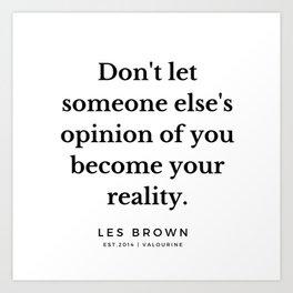 37  |  Les Brown  Quotes | 190824 Art Print