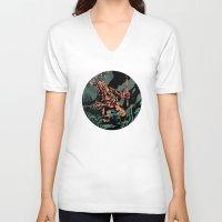 diver V-neck T-shirts featuring Diver by Rafael T. Pimentel