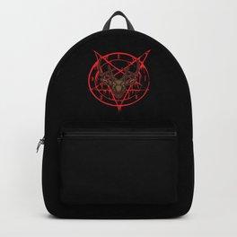Santa Pentagram with Reindeer Head Backpack