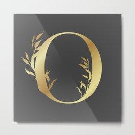 Monogram Gold Letter O Metal Print