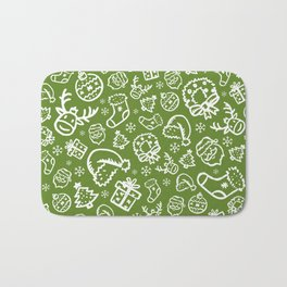 XMAS Green Pattern / Part Two Bath Mat