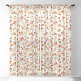 Bunches of Fruit Sheer Curtain