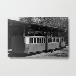 Narrow Gauge bw Metal Print