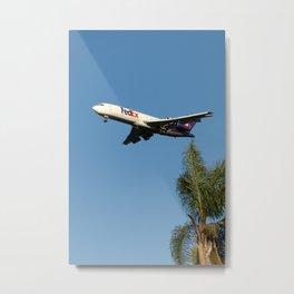 FedEx 727 with Palm Tree Metal Print