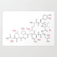 Oxytocin Molecule Art Print