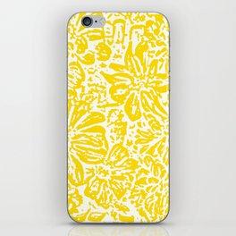 Gen Z Yellow Marigold Lino Cut iPhone Skin