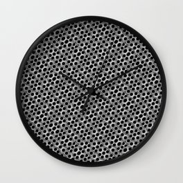 Rounded Holes Metallic Pattern Wall Clock