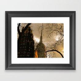 Empire State From Bryant Park Framed Art Print