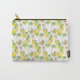 Autumn birch tree branch watercolour Carry-All Pouch