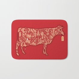 Milk Factory Cow Bath Mat