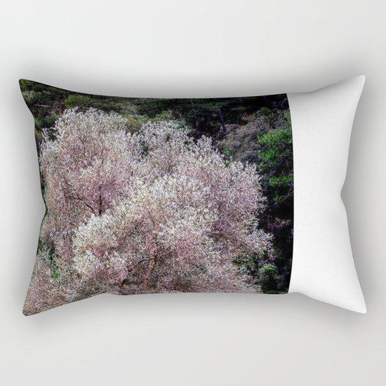white tree Rectangular Pillow