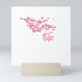 Japanese Harajuku Sakura Cherry Blossom Flower Graphic Gift T-Shirt Mini Art Print