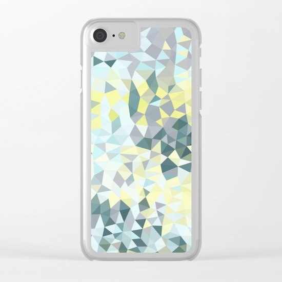 Spring Rain Tris Clear iPhone Case