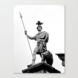Guarding Dublin Castle Canvas Print