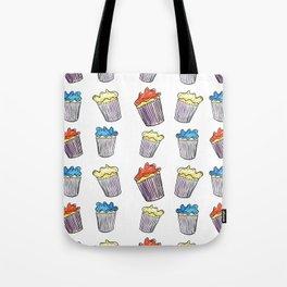 Sweet Tooth Cupcake Pattern Tote Bag