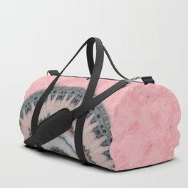 Pastel Pink Rose Textured Mandala Duffle Bag