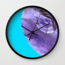 Light Blue Mystical Powers of Amethyst #society6 Wall Clock