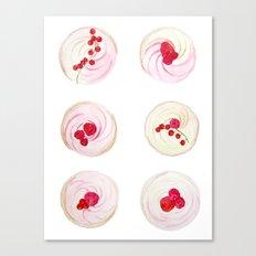 Berries Cupcakes Canvas Print