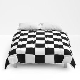 Checker (Black/White) Comforters