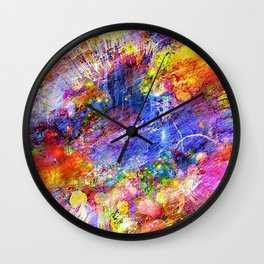 Colored Pattern Wall Clock