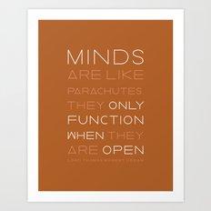 Keep an Open Mind •Siena Art Print