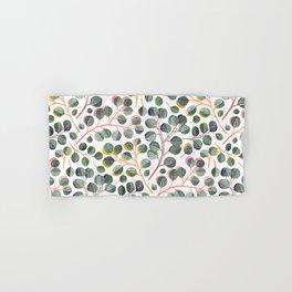 Simple Silver Dollar Eucalyptus Leaves Hand & Bath Towel