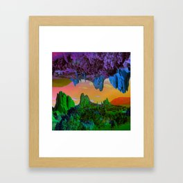 Garden of The Gods Multiverse Framed Art Print