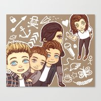 1d Canvas Prints featuring 1D selfie by susumzee