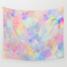 Secret Garden Colorful Abstract Impressionist Painting Pattern Wall Tapestry
