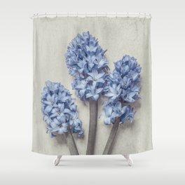 Light Blue Hyacinths Shower Curtain