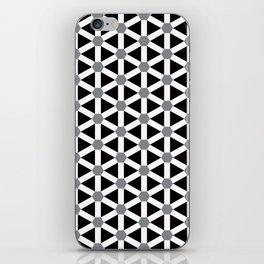 Geometric Pattern #176 (gray) iPhone Skin