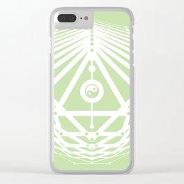 Radiant Abundance (light green-white) Clear iPhone Case