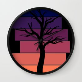 Tree Silhouette (Sunset) Wall Clock